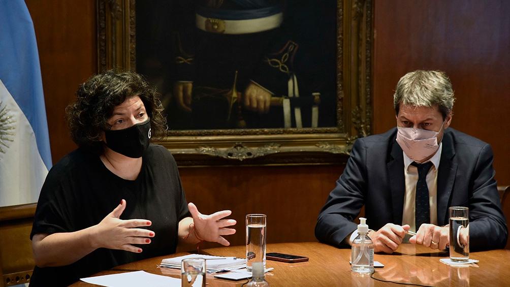 Vizzotti  y Lammens analizaron el escenario de la pandemia frente al feriado de Semana Santa.