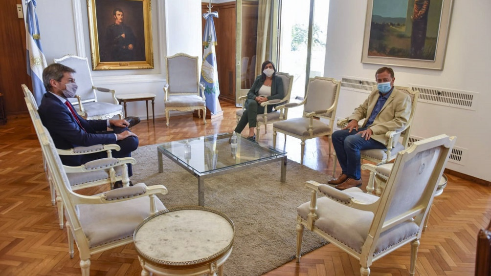 Lammens se reunió con el gobernador Suárez en Mendoza