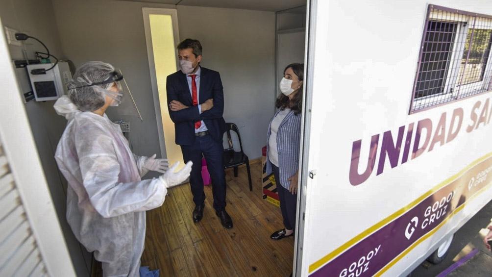 Lammens visita Mendoza en el marco del operativo de prevención lanzado por las autoridades locales.
