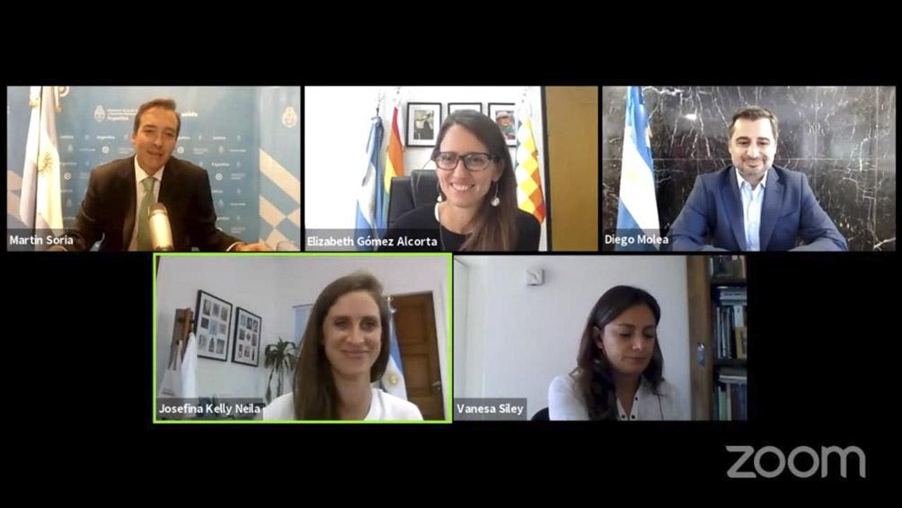 """Soria encabezó un conversatorio virtual """"cómo incorporar la perspectiva de género al Poder Judicial"""" (Foto: Prensa Nación)"""