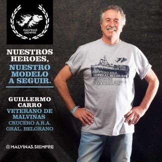 Guillermo Carro (VGM -Crucero ARA Belgrano) - Foto: gentileza Malvinas Siempre.