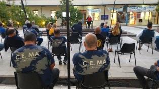 La Banda del Servicio Penitenciario Bonaerense abrió la Vigilia por el Día del Veterano de la guerra de Malvinas