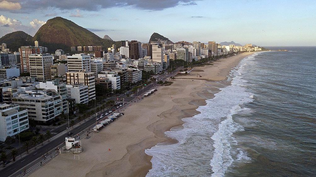Las playas siguen cerradas en Río de janeiro