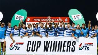 Los Pumas 7's ganaron el Seven de Dubai al superar en la final a Francia