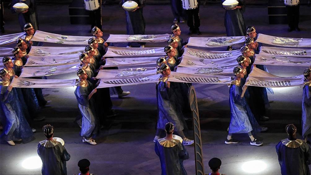 El evento contó con actuaciones musicales de varios artistas egipcios.