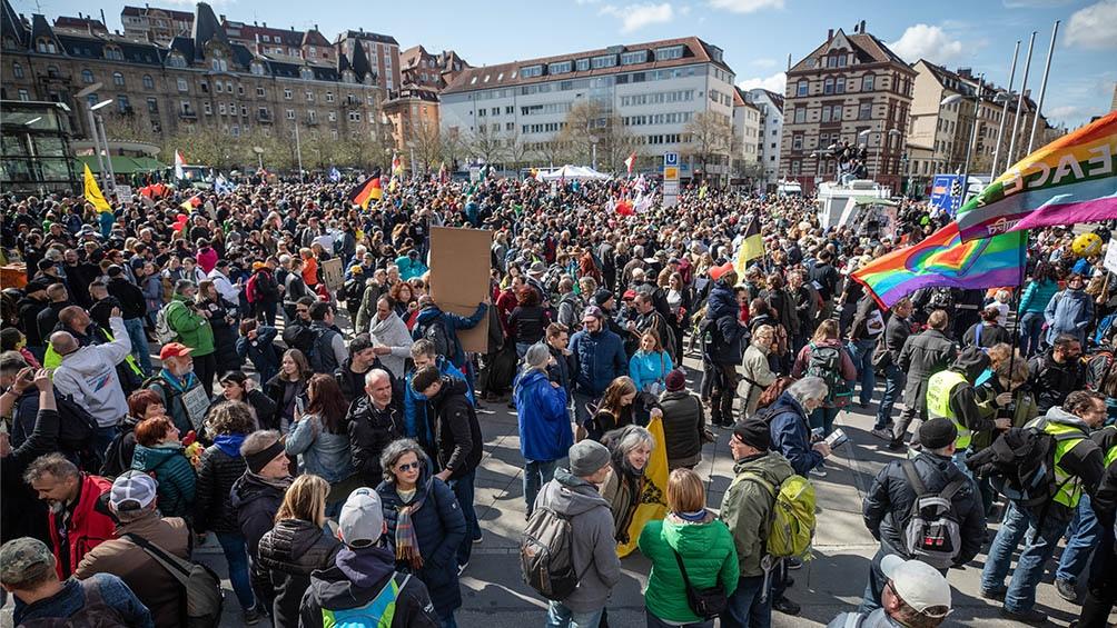 Las manifestaciones de Pensador Lateral en el último año concentraron decenas de miles de partidarios.