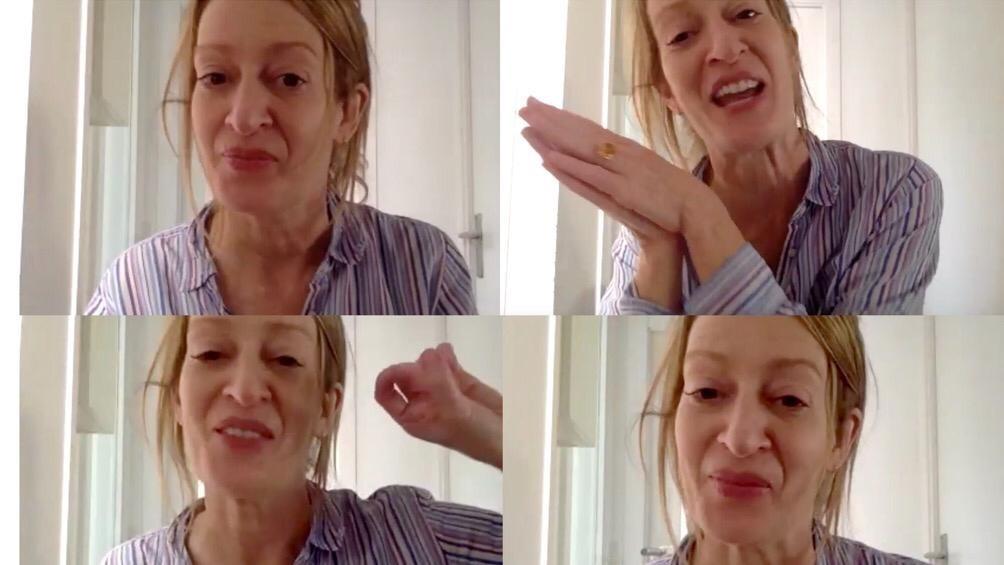 Desde su piso en Barcelona, la escritora dialogó con .