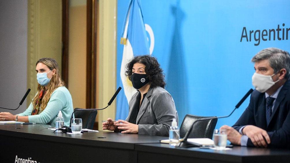 """La ministra recomendó implementar """"acciones intensivas, focalizadas y transitorias con mucho cumplimiento en el cuidado""""."""