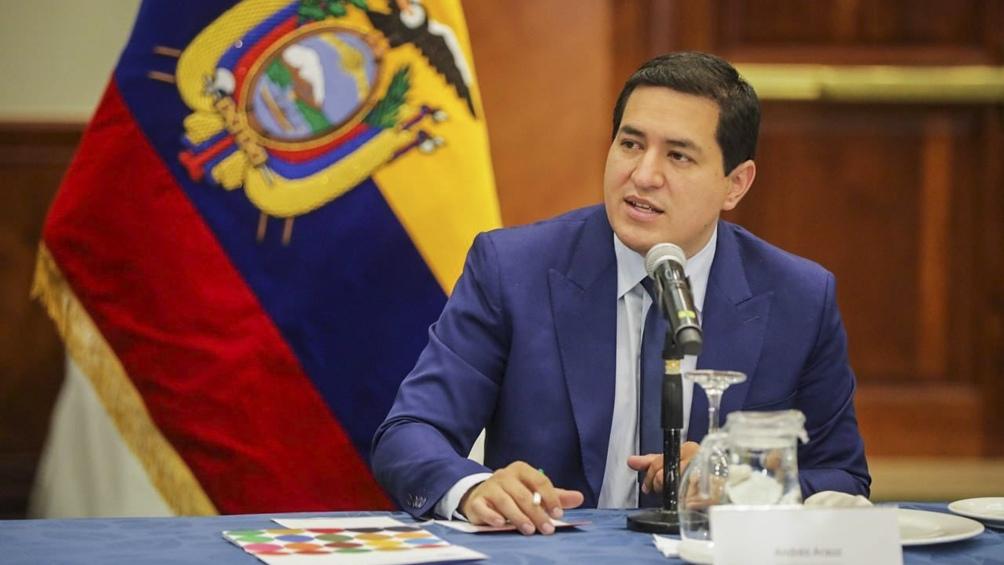 Andrés Arauz, el candidato de Unión por la Esperanza (UNES) a la presidencia ecuatoriana