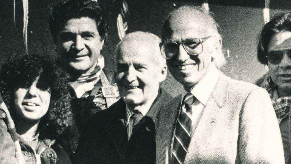 Con Jonas Salk, cuando el descubridor de la vacuna contra la polio visitó nuestro país.