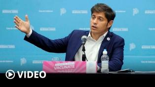 Kicillof adhirió a las medidas tomadas por el Presidente y criticó elípticamente a Larreta