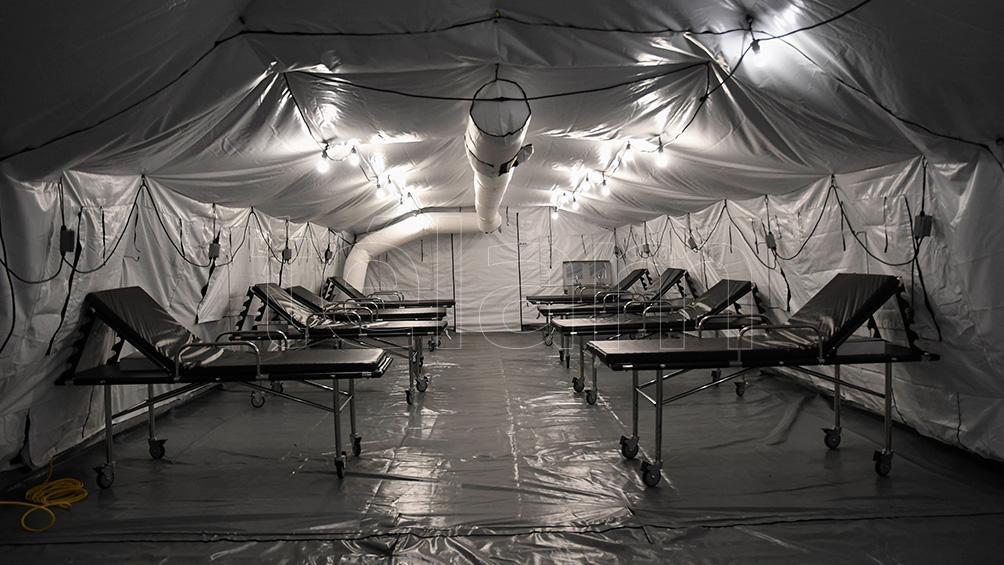 Hospitales modulares cedidos por el Comando Sur de los Estados Unidos.