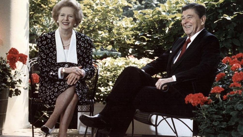 Thatcher y su gran aliado, el presidente estadounidense Ronald Reagan.