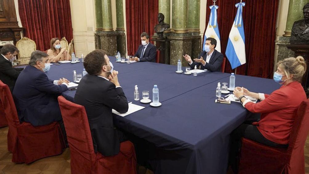 """El presidente de la cámara baja confirmó que se acordó """"hacer una segunda reunión con los bloques de los partidos que no son de Juntos por el Cambio: la Izquierda"""