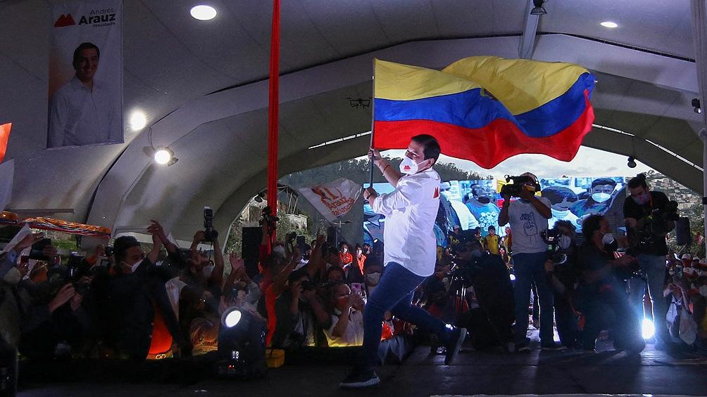 Cuando fue elegido como candidato presidencial, Arauz no era una cara famosa en Ecuador.