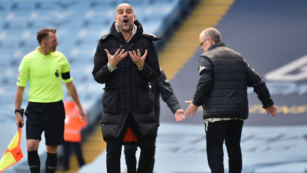 """Guardiola y la bronca en la derrota del """"City"""" ante el Leeds"""