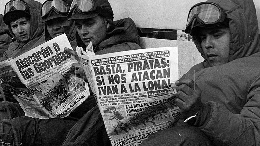 Los argentinos vivimos engañados sobre el desarrollo de la guerra.
