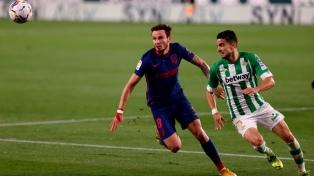 Atlético Madrid empató con Betis y se mantuvo como único puntero de LaLiga