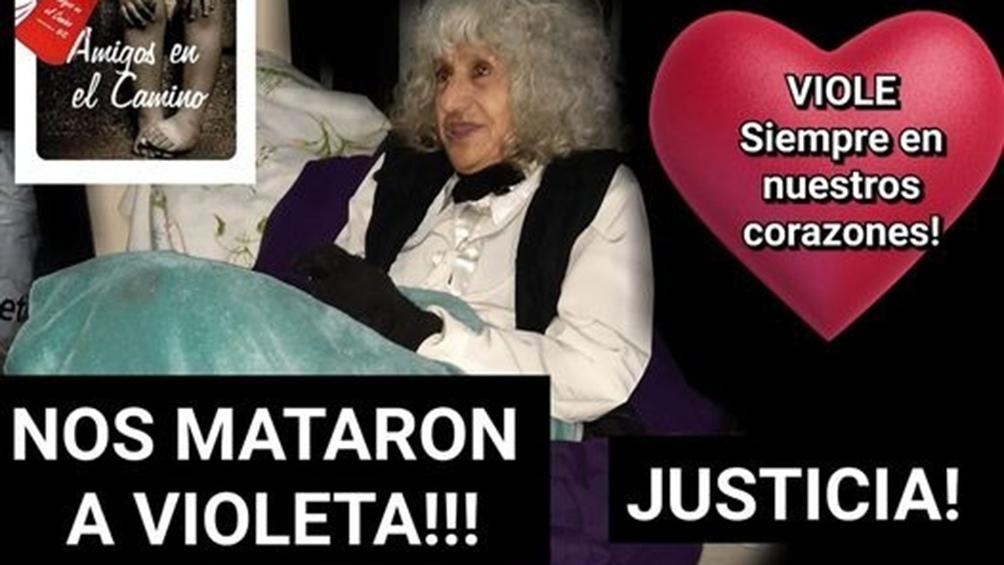 Violeta Fernández tenía 78 años y vivía en situación de calle