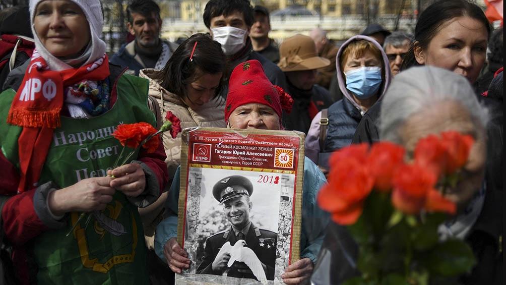 Sesenta años después, Gagarin sigue siendo uno de los máximos ídolos del pueblo ruso. (AFP).