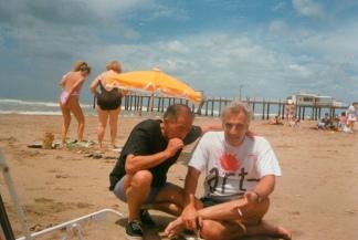 """Kesselman junto a su colega, amigo, hermano, Eduardo """"Tato"""" Pavlosky."""