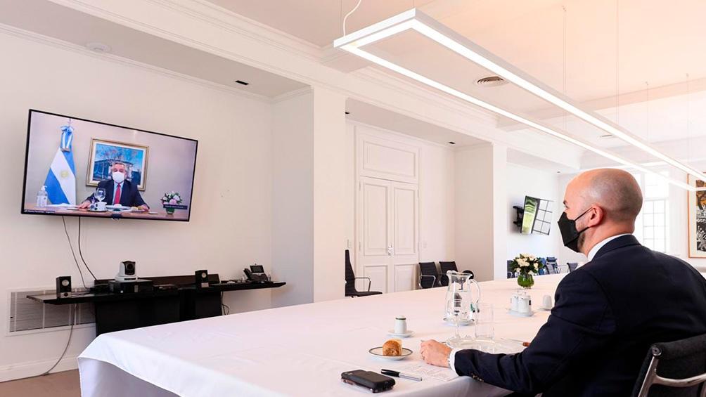 Fernández recibió una carta de Biden y dialogó con su asistente especial por videoconferencia