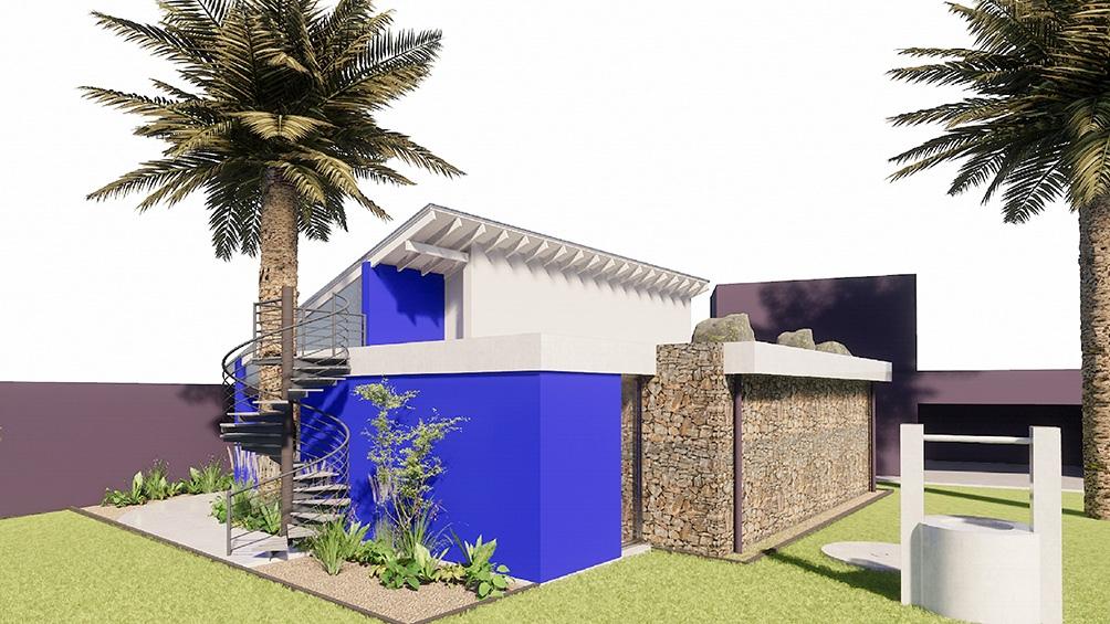 Así se verá el Museo Punta Azul, en Sierras Bayas, una localidad de siete mil habitantes, a quince minutos de Olavarría.