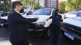 Kicillof entregó 60 patrulleros, con los que se duplica el parque actual de La Plata