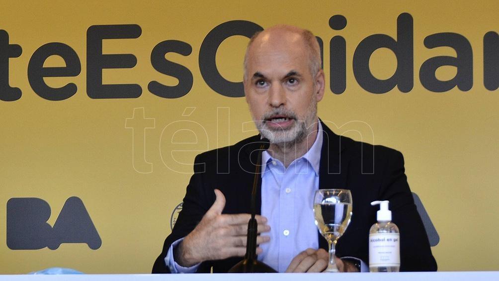 Larreta mantuvo una rueda de prensa en la sede del Gobierno en Parque Patricios.