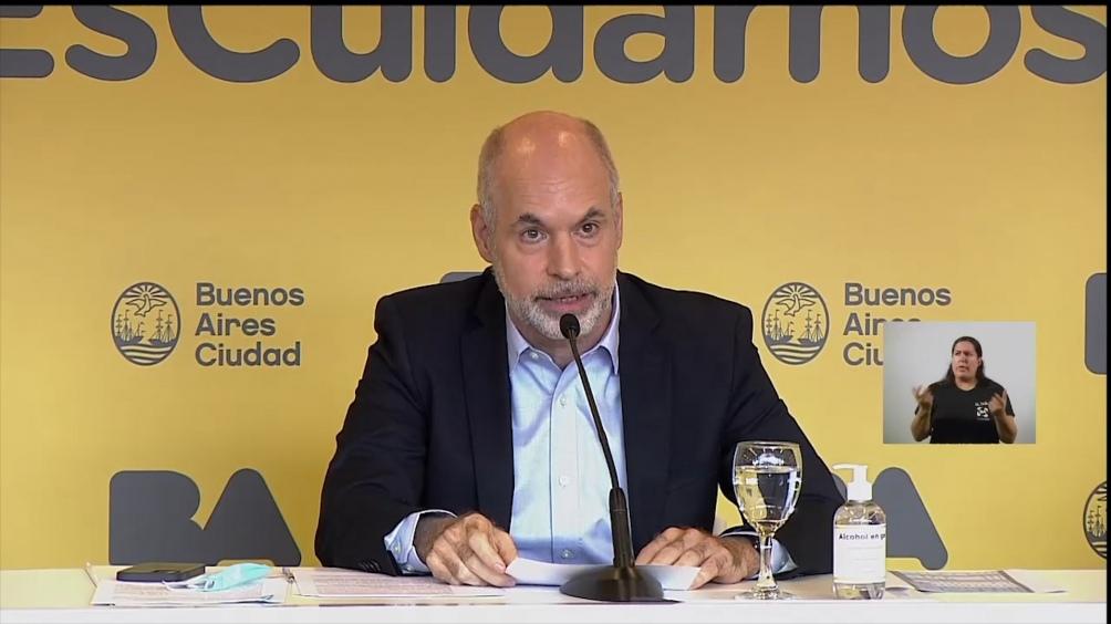 O chefe de Governo da Cidade de Buenos Aires, Horacio Rodríguez Larreta