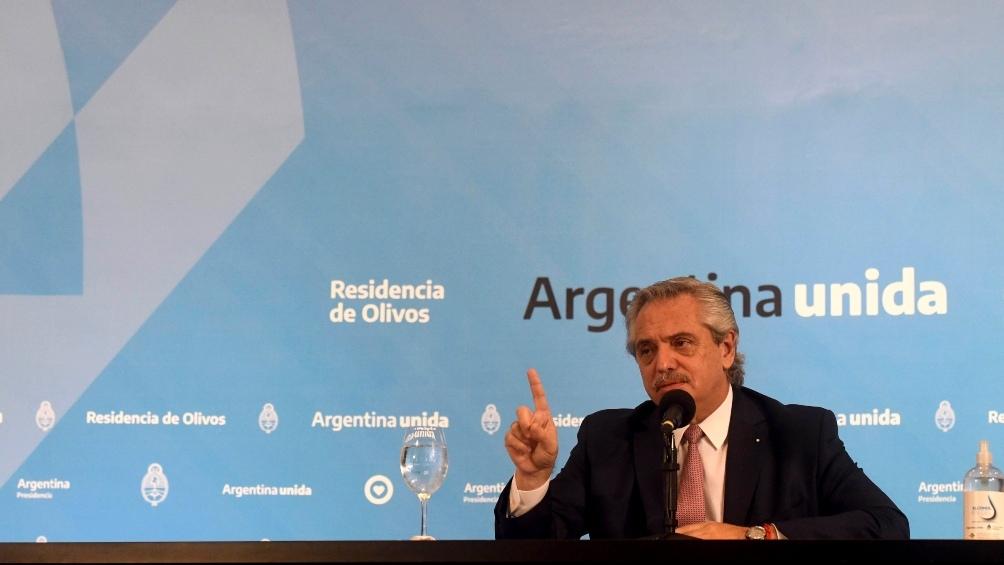 """Alberto Fernández: """"A mí la rebelión, no. En un estado de derecho las leyes se cumplen"""""""