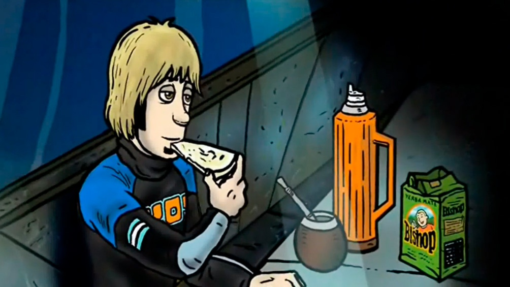Facundo Arana, en el dibujo animado de Juan Carlos Quattordio. El actor le pone la voz a su personaje.