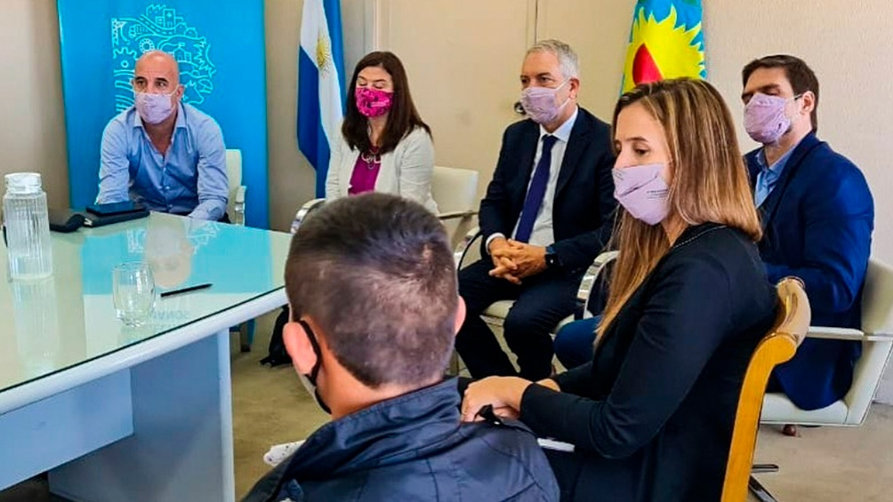 La ministra Estela Díaz ya se había reunido con la familia de Tehuel a fines de marzo.