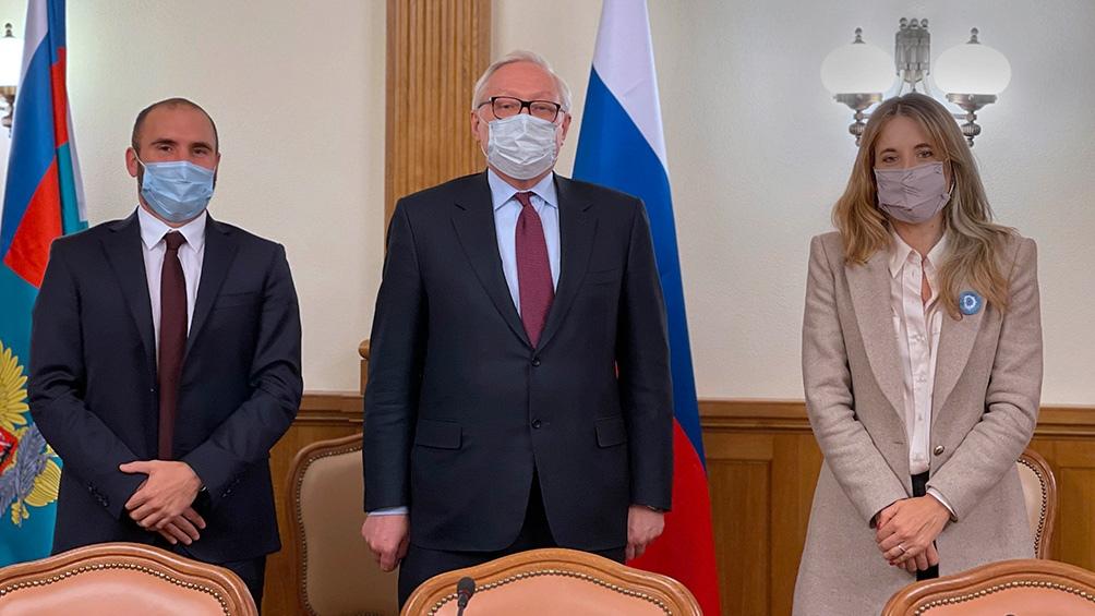 Guzmán, Ryabkov y Nicolini se reunieron este lunes en Moscú