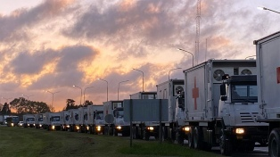 Defensa trasladó sus módulos móviles para reforzar un hospital de La Matanza