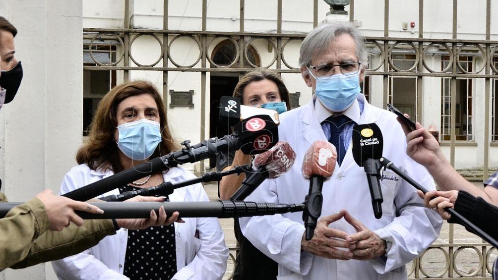 """López enfatizó que en el Gutiérrez los pacientes con coronavirus representan """"el número de casos que teníamos el año pasado""""."""