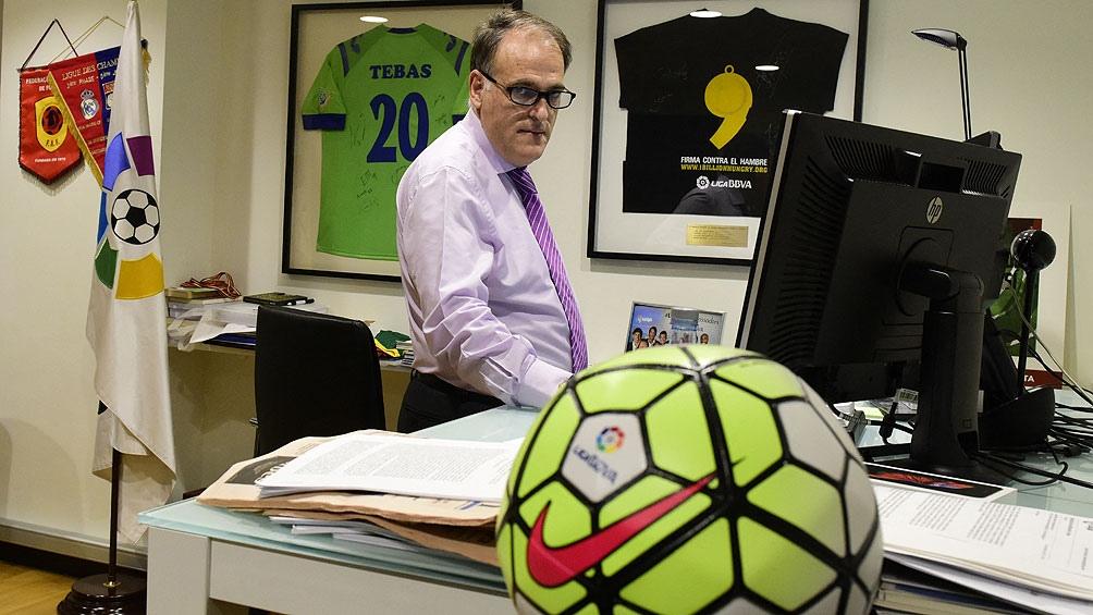 Javier Tebas fue duro con los presidentes del Rea Madrid y Barcelona, Florentino Pérez y Joan Laporta.