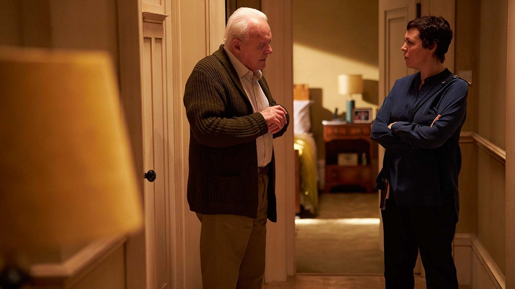 "Anthony Hopkins se luce, a los 83, en ""El padre""."