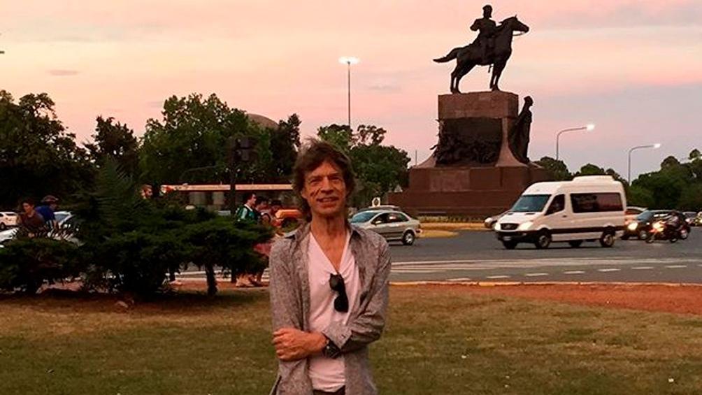 Mick Jagger, paseando por Palermo.