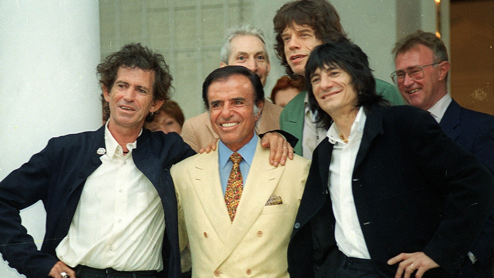 En su primera visita en 1995 hubo recepción en la Quinta de Olivos, con Carlos Menem como anfitrión.