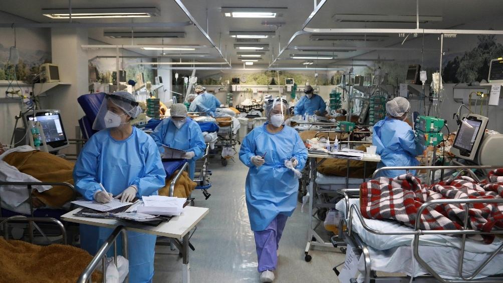 Una imagen de un hospital brasileño al límite por la gran cantidad de internaciones.