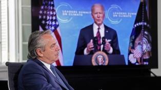 Biden le agradeció a Fernández su contribución frente a la crisis climática