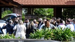 Inhumaron los restos del ministro Meoni en el cementerio de Junín, con la participación del Presidente