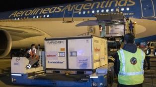 Llega el primero de los tres vuelos que traerán vacunas de Sinopharm