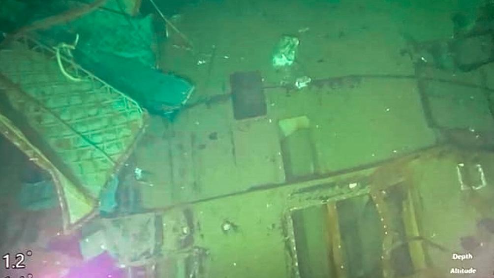 El submarino hallado.