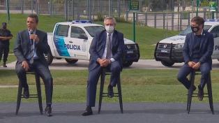 Fernández encabezó el lanzamiento de un programa de seguridad para pasajeros de colectivos
