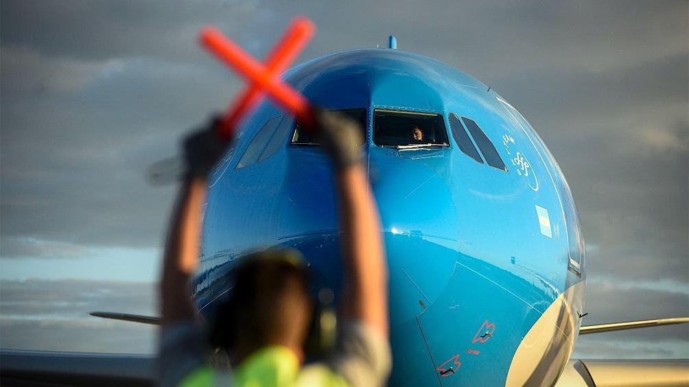 El vuelo partió esta madrugada a la 1,59 desde el aeropuerto internacional de Ezeiza