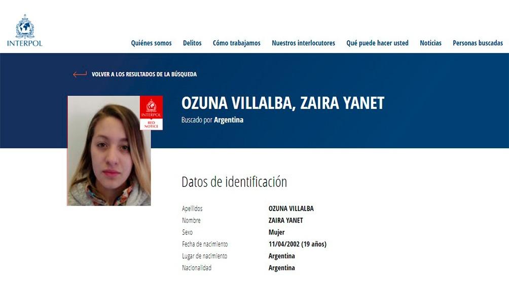 Ozuna se entregó en la División Triple Frontera de la Policía Federal Argentina en Misiones y en las próximas horas será trasladada a Buenos Aires para su indagatoria