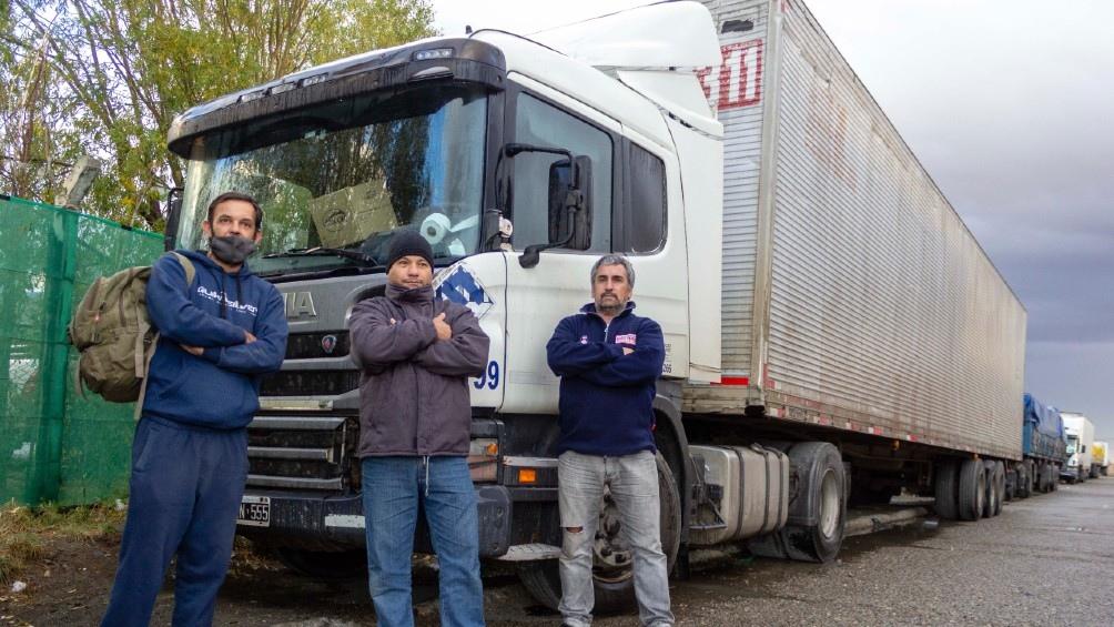 Los camioneros chilenos reclaman poder circular por territorio argentino