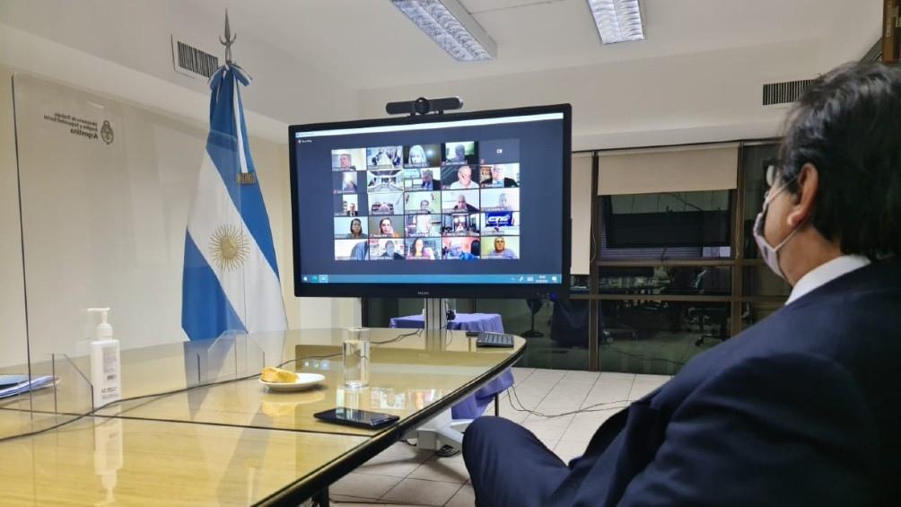El Consejo del Empleo, la Productividad y el Salario Mínimo es encabezado por el propio ministro de Trabajo, Claudio Moroni, quien presidió el encuentro virtual.